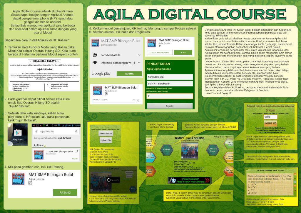 Penawaran Modul dan Sistem Bimbel Aqila Course